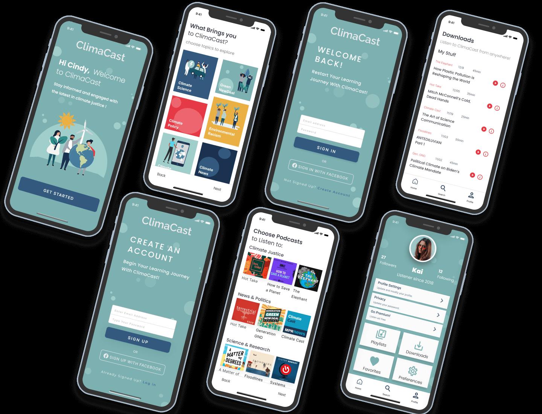 image of mobile app screens